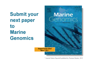 Submit to Marine Genomics